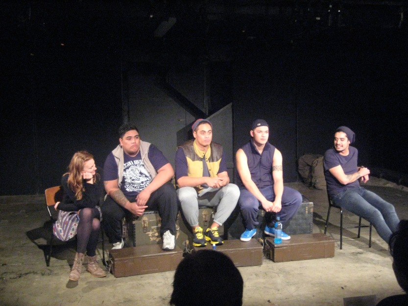 Feleni cast and directors, Amelia on the far left and Shadon on the far right