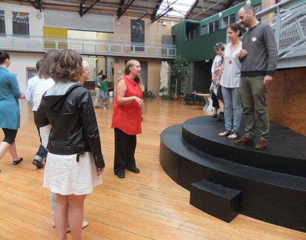 Photo of one of the workshop exercises by Iona McNaughton. Copyright Arts Access Aotearoa