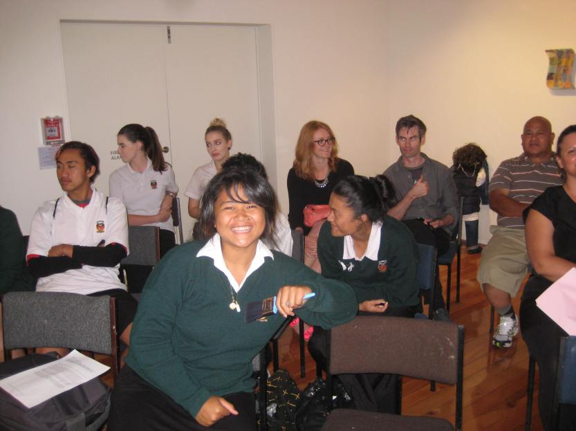 Great smile Kisa in the front row!